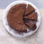 Sunken drunken chocolate cake