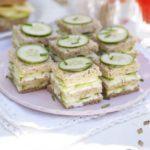Cucumber & herb triple-deckers