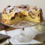Apricot & ratafia sponge cake