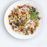 Mixed bean & wild rice salad
