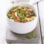Roasted summer veg & pancetta pasta