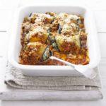 Aubergine rolls with spinach & ricotta