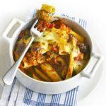 Courgette, sausage & rigatoni bakes