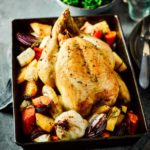 Roast chicken with lemon & rosemary roots