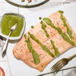 Roast side of salmon with chermoula