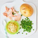 Weaning recipe: Salmon, pea & potato puree