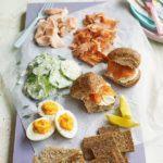 Salmon picnic platter