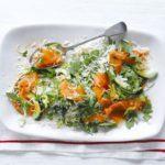 Smoked salmon rice salad