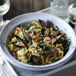 Special seafood & saffron pasta