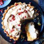 Seville meringue pie with pomegranate