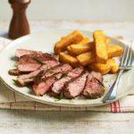 Simple sirloin steak