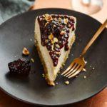 Rhubarb & gingernut cheesecake