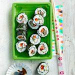 Smoked mackerel maki rolls