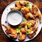 Southern-fried quail with blue cheese dressing