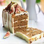 Spiced fig, coffee & hazelnut cake