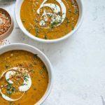 Spiced lentil & butternut squash soup