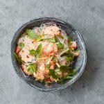 Spicy prawn noodle salad