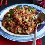 Spicy Sichuan-style prawns
