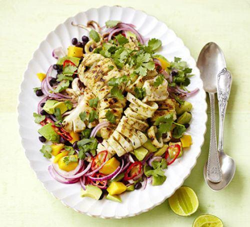 Barbecued squid salad Recipe