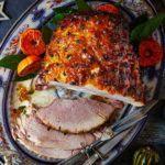 Stem ginger & mustard glazed ham
