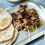 Sticky jerk lamb kebabs