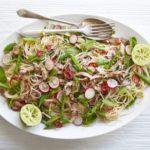 Sticky stem ginger duck & noodle salad
