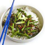 Sichuan-style pork & green bean stir-fry