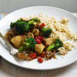 Stir-fried chicken with broccoli & brown rice