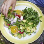 Sugar snap pea, avocado & orange salad
