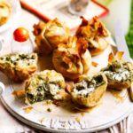 Summer herb & feta pies