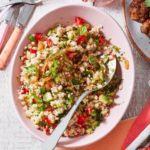 Barley & bulgur chopped herb salad