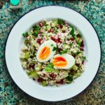 Brown rice tabbouleh with eggs & parsley