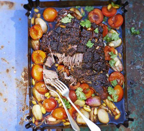 Lamb, apricot & shallot tagine Recipe