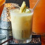 Tropical coconut rum punch