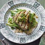 Seared tuna & anchovy runner beans