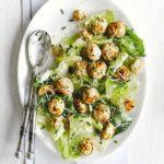 Turkey meatball Caesar salad