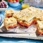 Veggie rainbow picnic pie