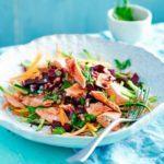 Wild salmon veggie bowl