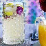 Hibiscus & prosecco cocktail